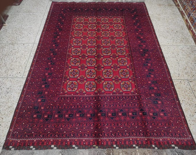 7X10 Vintage Afghan Rug Handmade Rug Afghan Kilim Bashire Rug Felpa Rug Turkoman Rug Wool kilim Rug Traditional Rug Turkish Rug