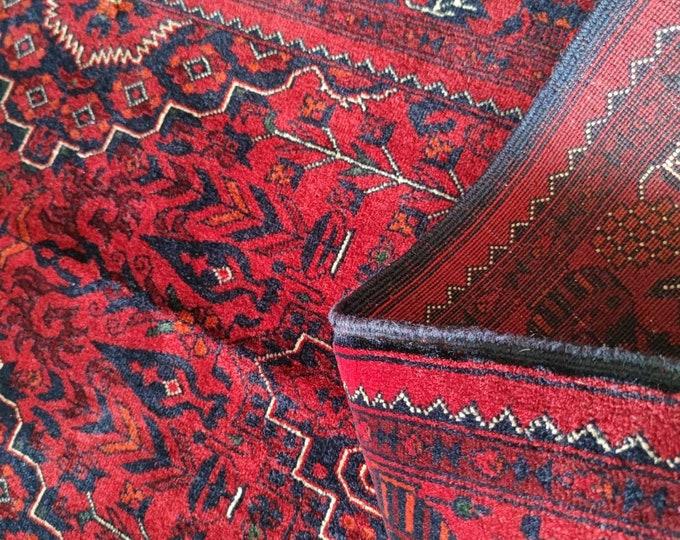 Beautiful Handmade Super Fine Quality Afghan Turkman Beljik Runner Rug, Hallway runner Geometric Design Made with Merino Sheep Wool