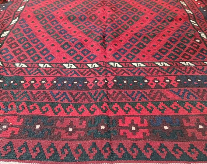 Kilim Rug, Maimana Kilim, Area Rug Carpet, Bohemian Rug, Handmade Afghan Rug, Vintage Rug,Rug Kilim, Big size kilim rug, Vintage Rug Turkish