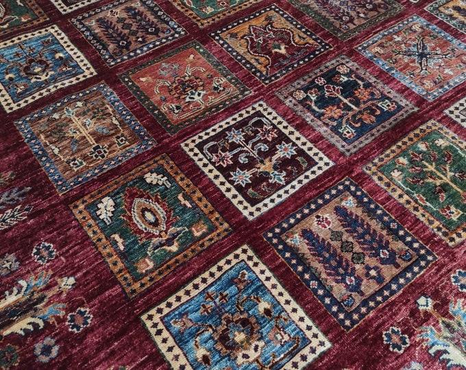 6x8 scandinavian decor, small rug, deco -handmade, red rug, boho rug, nomadic rug, entryway rug, bathroom rug, bokhara rug, moroccan rug