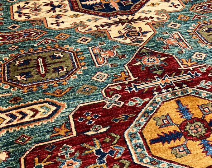 "5'8"" X 8'56"" Afghan Rug, Super Kazak Vintage Style Indian Persian Turkish Afghani Carpets for Living Room Bedroom Dining Table Home Decor"
