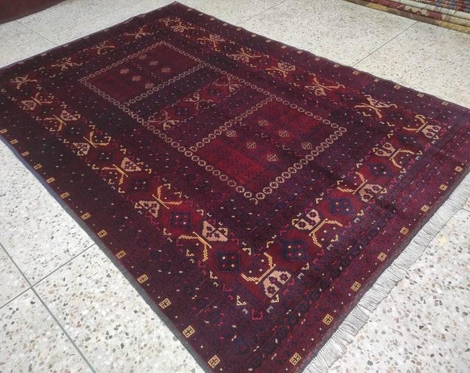 Gorgeous Handmade Afghan Tribal 100% wool Traditional Turkoman Parda Naqsha rug, Wool Carpet Parda Rugs, Handmade wool Rug, Parda rug Rug