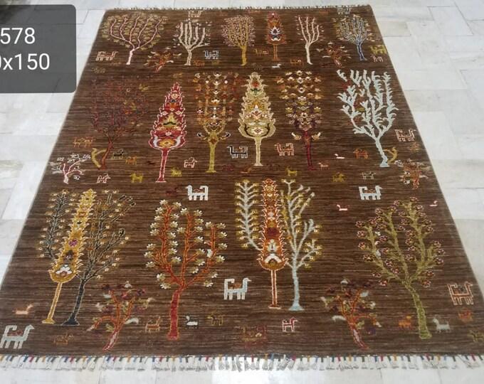 5x7 traditional rug, scandinavian decor, oushak vintage rugs, housewarming gift, rugs for living room, vintage rug, modern rug, faded rug