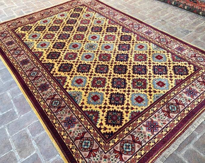 7x10 morocco rug, neutral oriental rug, rag rug, home decor rug, small rug, war rug, decorative rug, scandinavian decor, office rug, area