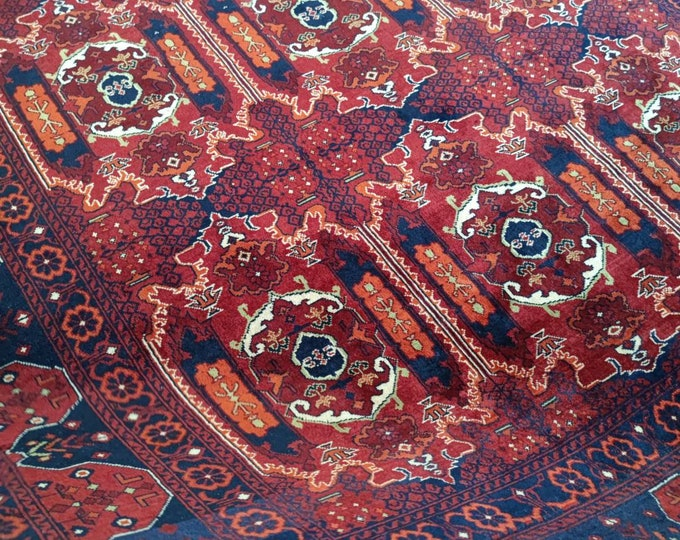 7X10 Ft Well-knotted made with High-quality of Afghan Ghazni wool, large room sized rug oriental style low pile Rug, Persian Rug