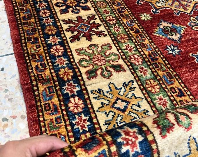 """Afghan Kazak super fine Handmade Kazak Area Rug 6"""" X 9'14 Ft"""