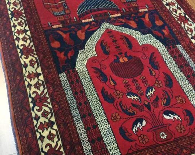 Well-made Amazingly Soft Prayer Mat - Prayer Rug - Janamaz - Elegant, High Quality, Luxury - A Unique Islamic Gift Set %100 Soft Merino Wool