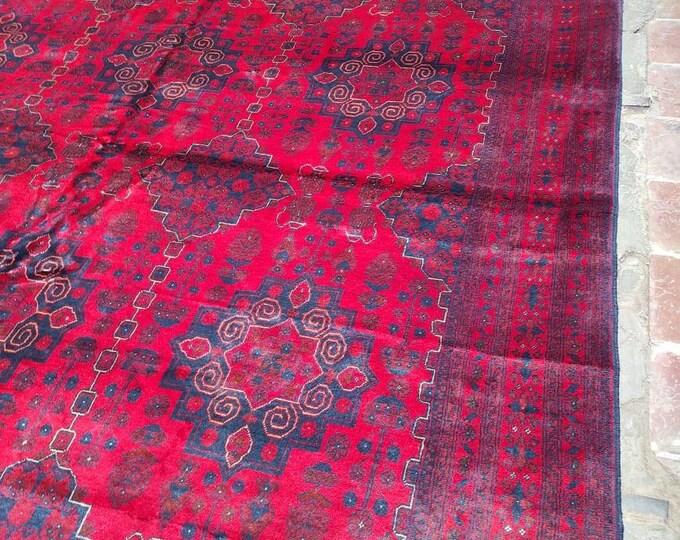 10X16'21 Ft Brand New High Quality Handmade Afghan Khal Mohammadi rug, large red area rug, tribal rug, red persian carpet, Living room rug