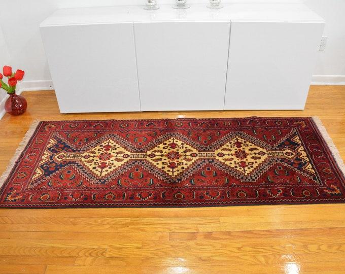 Beautiful Handmade Super Fine Quality Afghan Turkman Beljik Runner Rug, Hallway runner Geometric Design Made with Sheep Wool