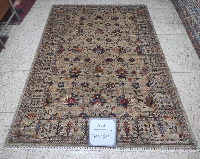 7X10 Mamluk rug, kitchen rug, large floor rugs, decorative rug, persian rug, fluffy rug, scandinavian decor, kitchen rug, entrance rug, rugs