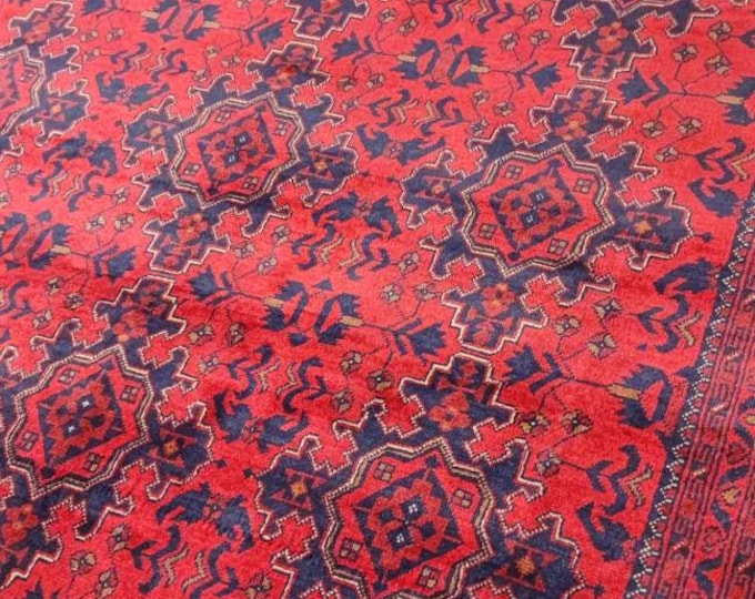 7X10 Ft Brand New Afghan Khal Mohammadi rug, large red area rug, tribal rug, red persian rug,