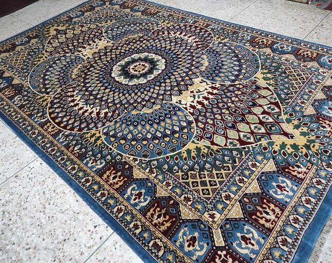 7x10 bohemian rug, floor rug, boho rug, afghan rugs, area rug, aztec rug, nomadic rug, baluch rug, doormat rug, vintage rug, navajo rug