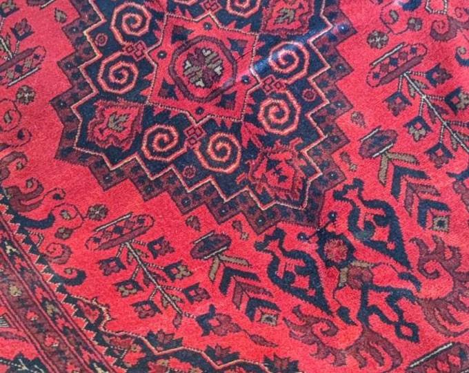7x10 Red handmade oriental rug / geometrical bedroom / khalmohammadi rug / Afghan Red Rug / Decor Rug / Floor Rug / Persian Rug / Wool Rug