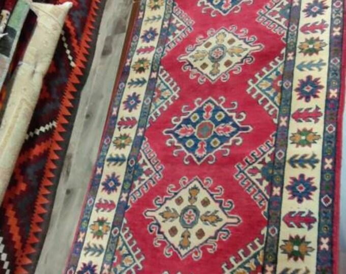 Runner rug Kazak Rug 2.8X9.10 Ft Afghan Caucasian Rug   Area Rug Large   Vintage Rug   Afghan rug   Persian rugs   Turkmen rug   kilim rugs