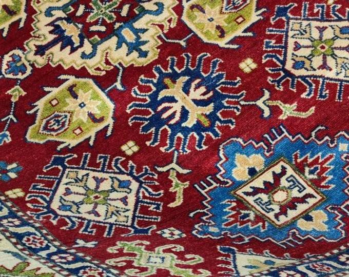 Handmade Afghan Kazak Rug, Nomadic and Traditional Natural Area carpet, High Quality 100% Wool, 5x7 feet