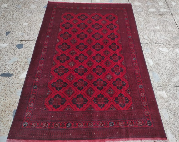 6'5x9'7  persian rug, navajo rug, decorative rug, tribal rug, hand made rug, turkey rug, turkish rug, sumac rug, red rug, scandinavian decor