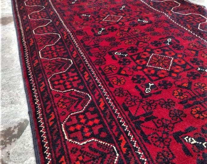 Runner Afghan rug, office area rug, housewarming gift, bathroom rug, runner rug, red runner, nursery decor, hallway runner rug,turkey rug