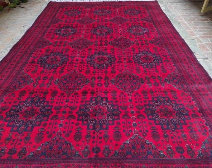 9x16 Afghan rug, large bokhara rug,  turkish area rug, sumac rug, khamyab, southwestern rug, decorative rug, persian rug, housewarming gift