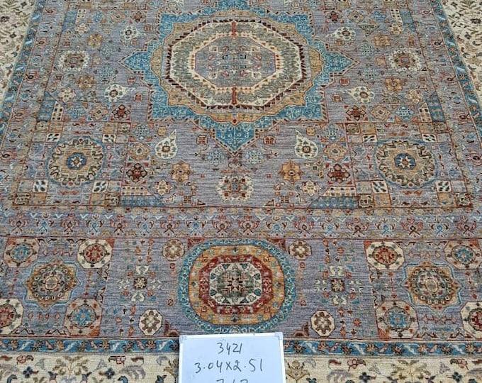 Hand Knotted Mamluk Design Rug - Area Rug Bedroom - Oriental Living Room Rug - Medallion Dining Room Rugs, Turkish rugs - Persian