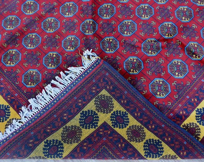 Afghan Rug,Traditional Rug, Moroccan Rug ,Decorative Rug, bokhara turkoman rug,Vintage, Kilim Rug, Nomadic Rug, Bokhara Rug, Persian Rug