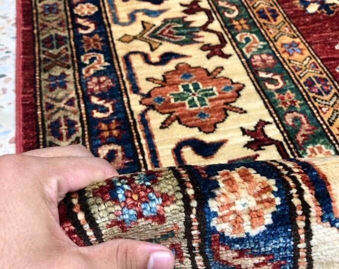 """Afghan Kazak super fine Handmade Kazak Area Rug 6'65"""" X 9'66"""