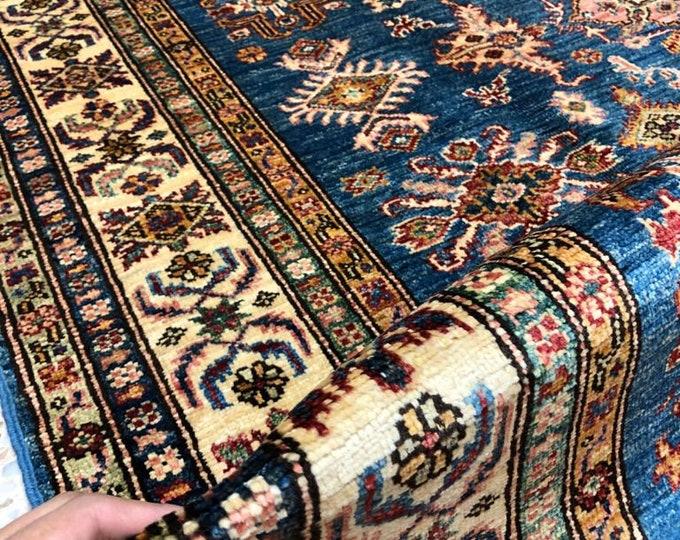 """Afghan Kazak super fine Handmade Kazak Area Rug 5"""" X 6'49 Ft"""