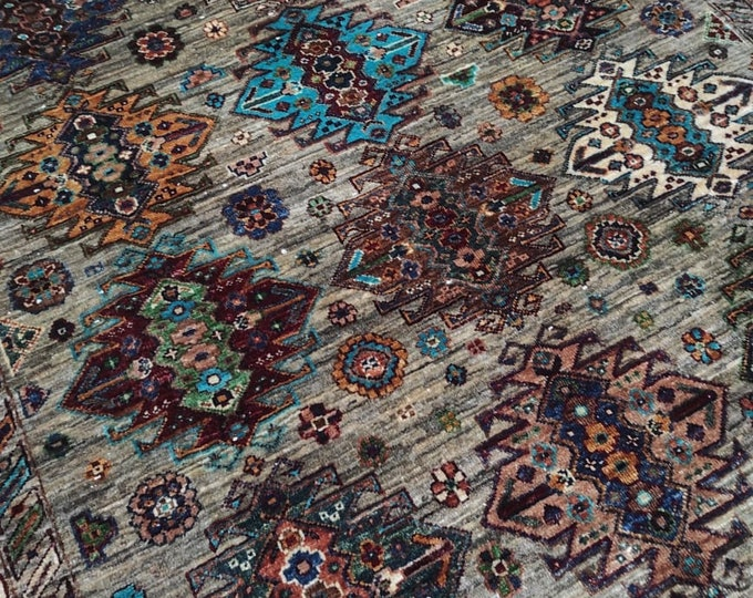 5X7 Ft Hand Knotted Mamluk Design Rug - Area Rug For Bedroom - Oriental Living Room Rug - Medallion Dining Room Rugs, Turkish rugs - Persian