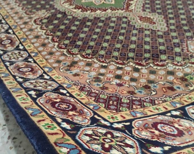 SX7 Ft Volayati High Quality Turkmen Afghan Rug, Oriental, nursery decor, afghan rug, home decor rug, dusty rose rug, tribal rug bedroom rug