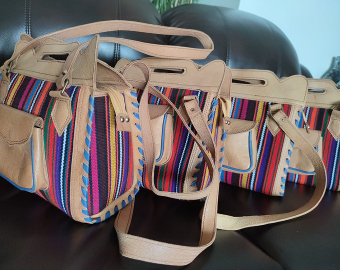 Kilim canvas Crossbody Leather purse, Afghan Bag, Kilim Back pack,canvas backpack,Unique design Kelim Leather Bag Handmade purse