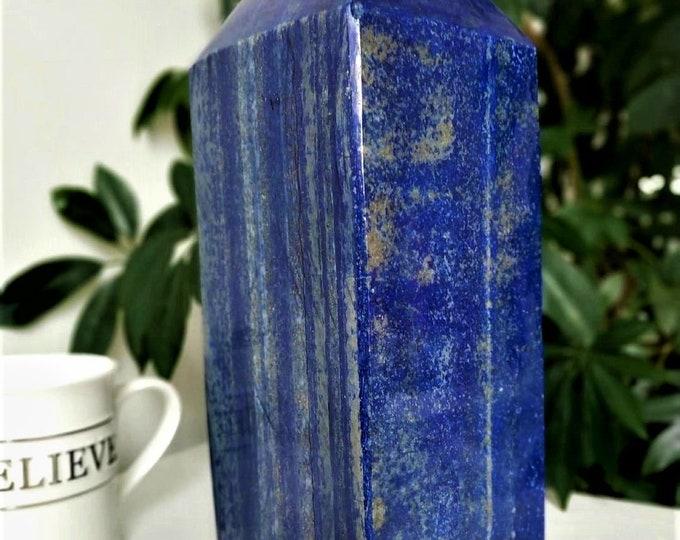 8.3 Kg Lapis Lazuli Obelisk blue shape towers high grade AAA natural beauty decorative directly from Badakhshan Afghanistan