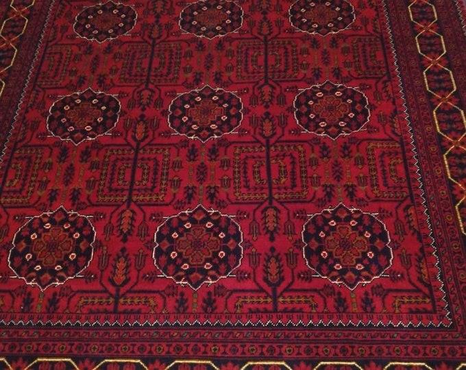 5x7 Afghan rug, oushak vintage rugs, rugs for living room, fringe rug, sumak rug, doormat rug, tribal rug, faded rug, runner rug, war rug