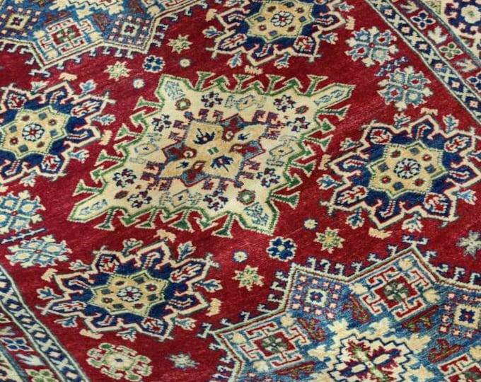 Kazak Rug 4.11X6.11 Ft | Afghan Caucasian Rug | Area Rug Large | Vintage Rug | Afghan rug | Persian rugs | Turkmen rug | kilim rugs