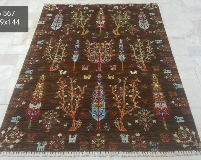5x7 large floor rugs, sumak rug, area rugs, office rug, leather bag, kitchen rug, baluch rug, abstract accent rug, wool rug, deco -handmade