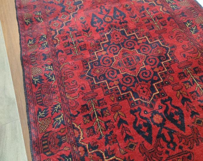 3x10 scandinavian decor, doormat rug, abstract rug, woven rug, farmhouse decor, wool rug, turkish kilim rug, persian rug, decorative rug