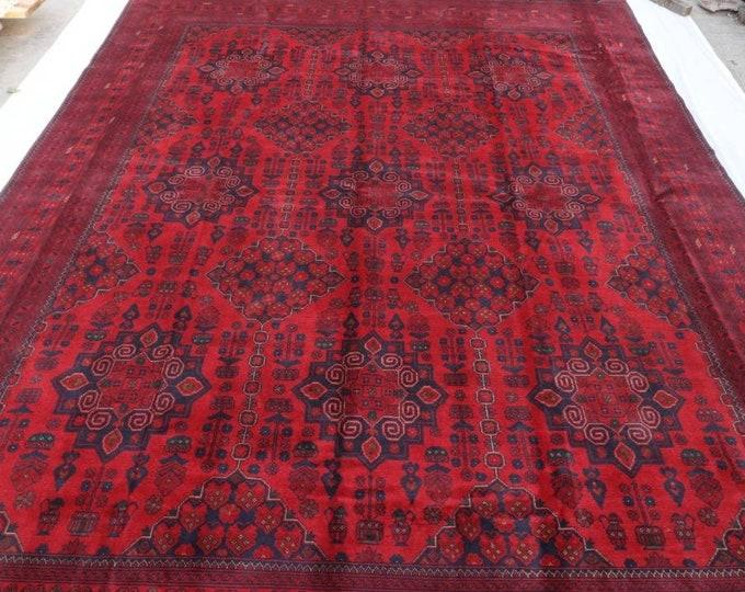 10x13 Afghan rug, large bokhara rug,  turkish area rug, sumac rug, khamyab, southwestern rug, decorative rug, persian rug, housewarming gift