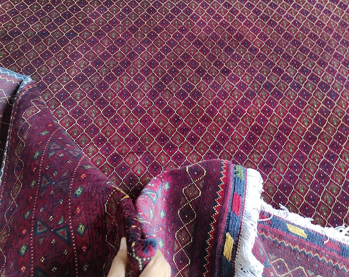 7x10 Ft Handmade Afghan Brand large area rug, tribal rug, New High Quality rug, red persian carpet, Living room rug, modern Moroccan style