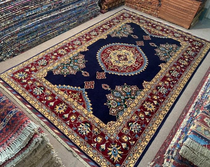 7X10 Stunning Afghan Turkmen Soft Well-made Handmade Rug, Merinos Rug, Handmade Wool Area Rug, High Quality Rug, Living room rug