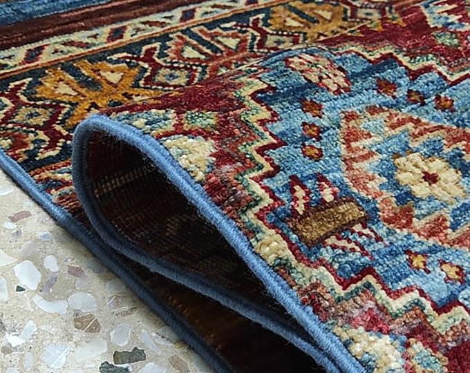 5x7 Afghan area rug, housewarming gift, colorful rug, dusty rose rug, small rug, rug runner, morocco rug, hand hooked rugs, bathroom rug