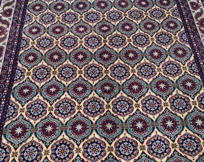 7X10 Living room Floor Carpet Afghan Handmade Area Rug, Hand-knotted Rug, Wool Turkish Design Rug, Handmade Carpet Rug, Persian Quality