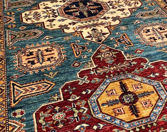 "5'77"" X 8'88"" Afghan Rug, Super Kazak Vintage Style Indian Persian Turkish Afghani Carpets for Living Room Bedroom Dining Table Home Decor"