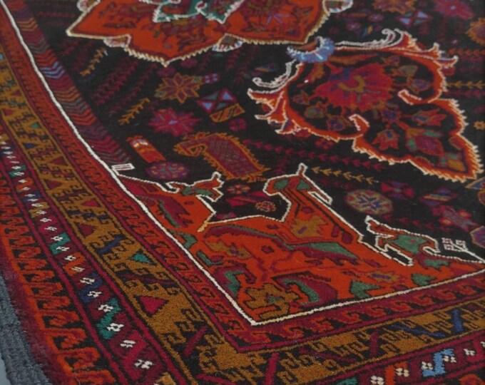 4x7 Afghan rug, nomadic rug, area rugs, carpet bag purse, moroccan rug, tribal rug, farmhouse decor, rugs for living room, floor rug, carpet