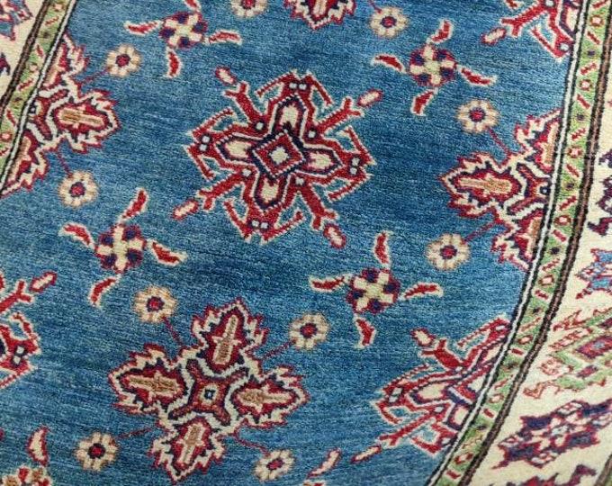 Kazak Rug 3'5X5 Ft Afghan Caucasian Rug   Area Rug Large   Vintage Rug   Afghan rug   Persian rugs   Turkmen rug   kilim rugs
