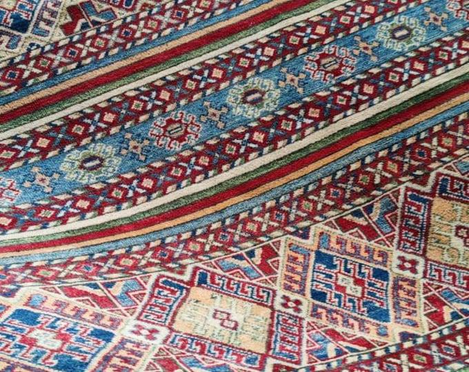 Kazak Rug Large Persian Carpet Caucasian Rug Kazakh Rug Area Rug Large Vintage Rug Afghan rug Turkmen rug geometric rug Vintage Persian rug