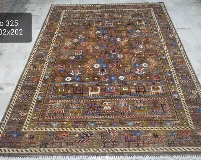 7x10 modern rug, area rugs, woven rug, bohemian rug, living room, indoor rug, office rug, decorative rug, farmhouse decor, decorative rug