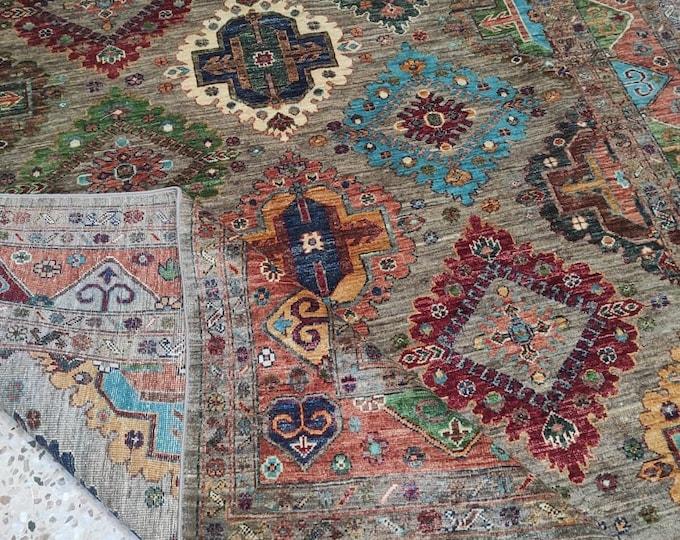 6x8 turkish kilim rug, baluch rug, small rug, southwestern rug, modern furniture, doormat rug, red rug, farmhouse decor, aztec rug, kids rug