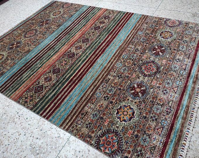 6x8 teal rug, tribal rug, dusty rose rug, persian rug, abstract rug, red rug, scandinavian decor, area rug, office rug, sumak rug, afghan