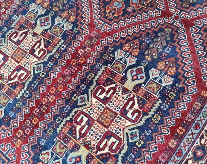 7X11 Volayati High Quality Turkmen Afghan Rug, Oriental, nursery decor, afghan rug, home decor rug, dusty rose rug, tribal rug bedroom rug