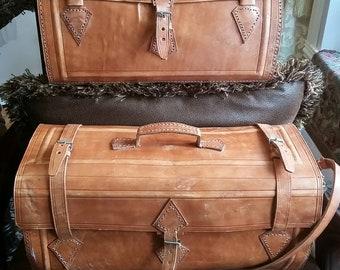 86f148470093 Handmade leather handbag/ travel bag/ Army bag/ Airplane bag