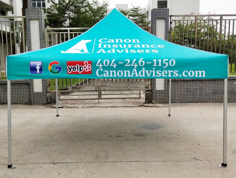 Custom Printed 10x10 Commercial Tent The top commercial tent