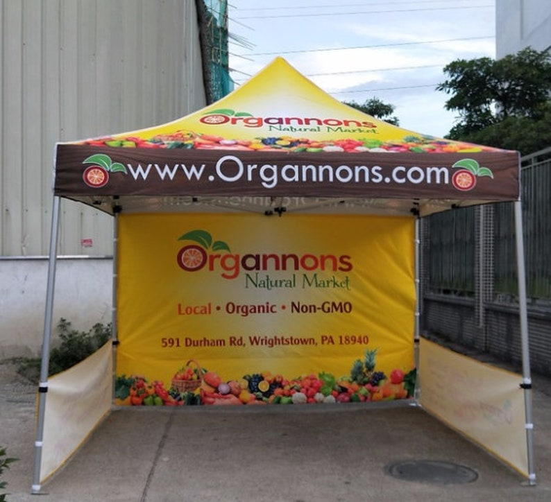 Custom Printed 10x10 Commercial Tent The BEST commercial